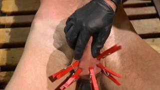 Blindfolded muscle stud gets dominated