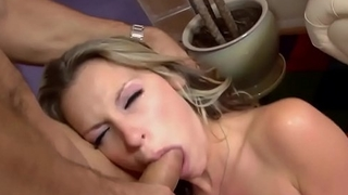 Blonde Son seduces Stepdad for career