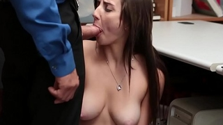 Jade Amber shows up her blowjob skill as she goes destroy someone's advantage her knees!