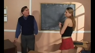 Excited teacher licks student'_s shaved pussy and fingers butt