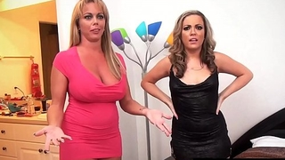 Carmen Valentina &amp_ Amber Lynn Bach Fuck 2 Guys In Hot 4Way!
