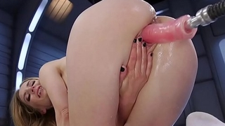 Blonde squirting and fucking machine