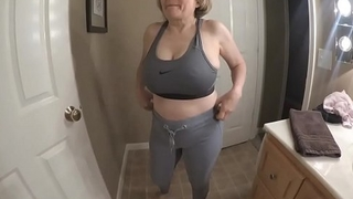 Big tits great ass sporty GILF