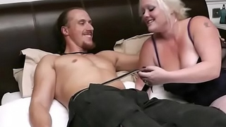 He seduced by cock-hungry blonde plumper