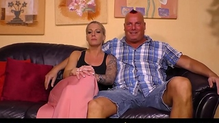 SEXTAPE GERMANY - German sex heist b put up with tattooed blonde and hunky right-hand man for first time porn