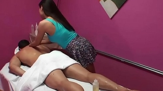 SexyMassageOil - Petite Thai Girl Riding Cock on Massage Table