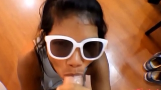 HD tiny thai teen oriental teen heather deep give deep throat and get huge facial overhead glasses 2 new