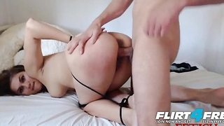 Amanda and Daniel - Flirt4Free - Tied Up Babe Gets Fucked Hard