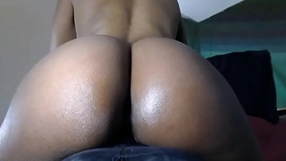 Bubble Butt Ebony Fucks Creamy Squirty Pussy Nigh Close Up