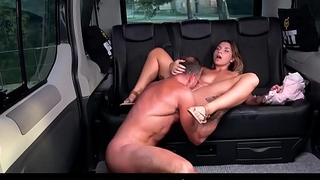 FUCKED IN TRAFFIC - Spicy tattooed babe Kattie Hill fucked in car
