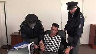 Checkout at the police station with footjob