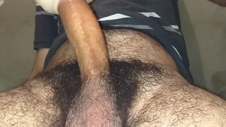 Hairy man fleshlight misuse