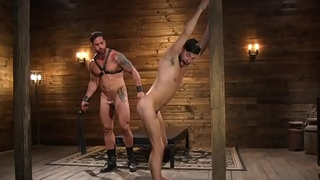 Bondage stud gagging greatest extent getting flogged