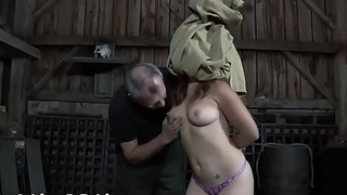 Restrained playgirl receives wild trifle drilling for her cunt