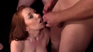 Kinky neonate gets cumshot on her face gulping all the spunk