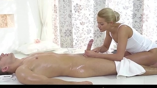 RELAXXXED - Oiled sex for hot blonde masseuse Cherry Kiss