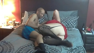 Naughtyhotwifenichole taking bbc while hubby films