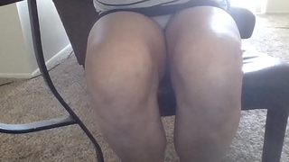 Sexy upskirt of hot latina girlfriend at lunchtime