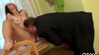 Old old egg knows how to feel sorry a pleasant young pussy super wet