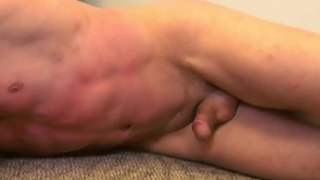 Muscled submissive flogged before deepthroat