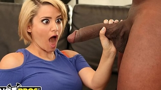 BANGBROS - Blonde Cutie Alix Lovell Takes On Mandingo'_s Infamous Big Black Cock