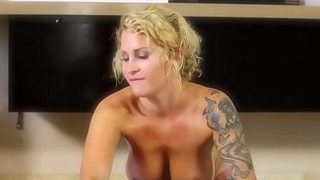 Nuru massaging babe jerks