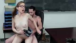 Shaved Baby-Face Teenie Loves Fucking In Detention