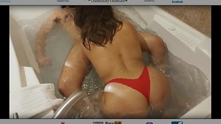 Latina Maid Cleans Las Vegas Room Then Joins Me In Jacuzzi Blue Big Juicy Round Ass